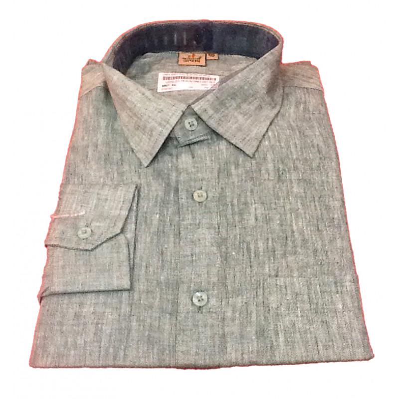 Linen Shirt Full Sleeve Size 46 Inch