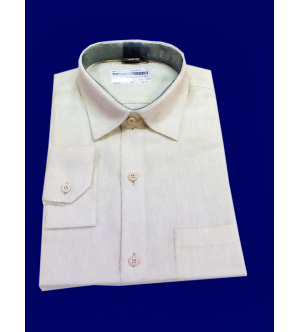 Cotton Plain Shirt Full Sleeve Size 44 Inch