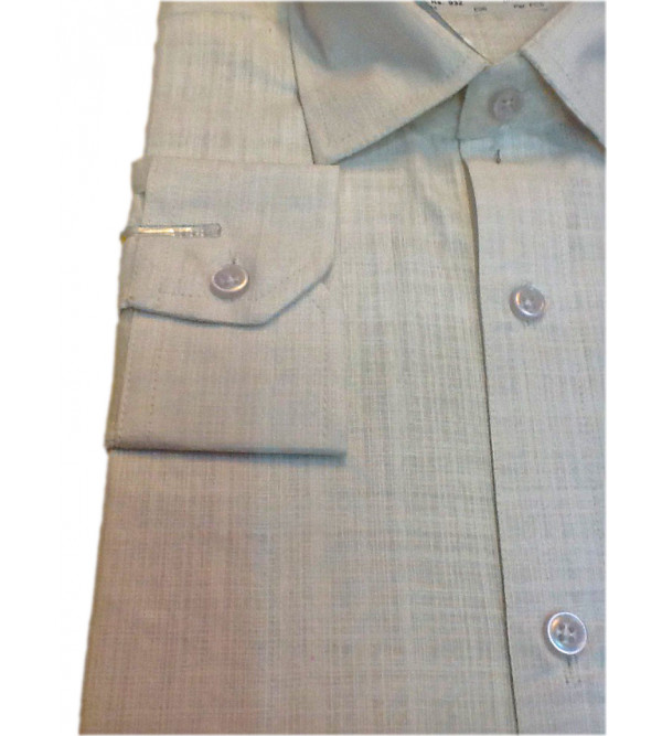 Cotton Plain Shirt Full Sleeve Size 38 Inch