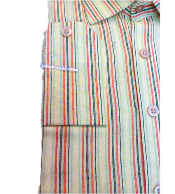 Cotton Stripe Shirt Full Sleeve Size 38 Inch