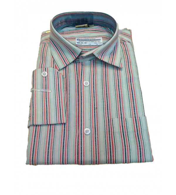 Cotton Stripe Shirt Full Sleeve Size 40 Inch