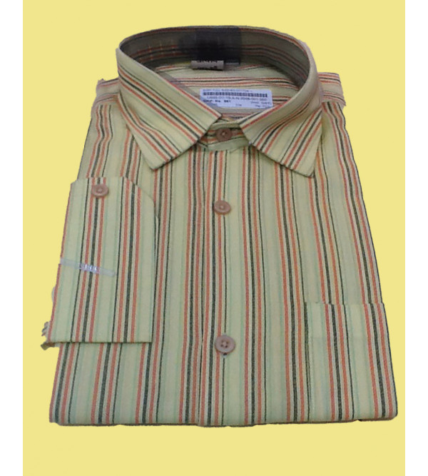 Stripe Cotton Shirt Full Sleeve Size 42 Inch