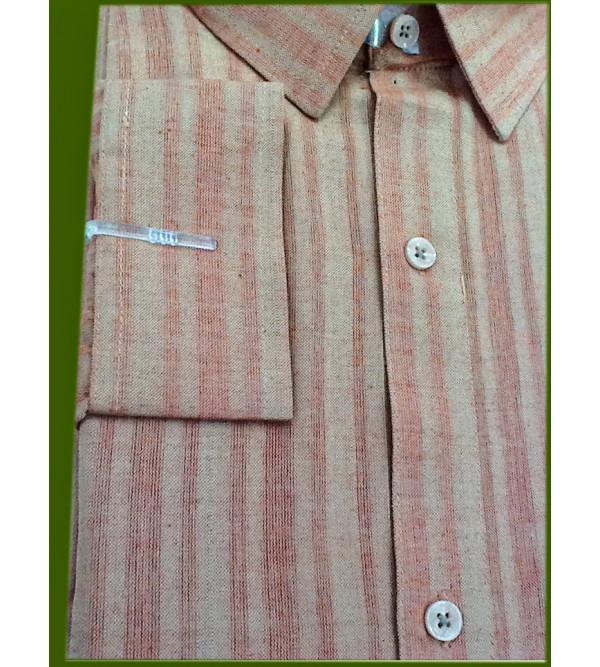 Stripe Cotton Shirt Full Sleeve Size 44 Inch