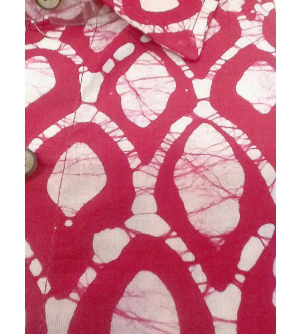 Batik Printed Shirt Handloom Full Sleeve Size 44 Inch