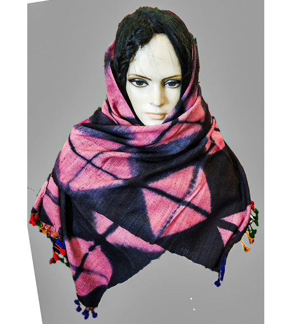 Silk Wool Hand Woven Stole From Kashmir Size,28X80 Inch