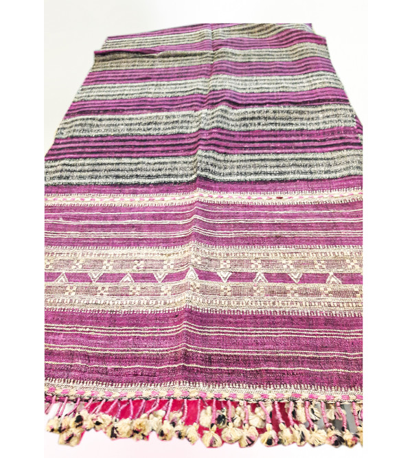 Gujarat Handwoven Shawl With Fringes Size 40x80 Inch