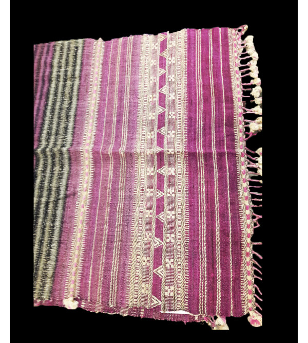 Silk Wool Stole Handwoven In Gujrat Size, 28x80 Inch