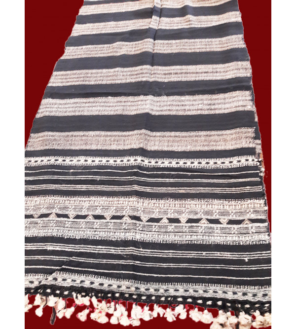 Silk Wool Stole Handwoven In Gujrat Size, 28x80 Inch