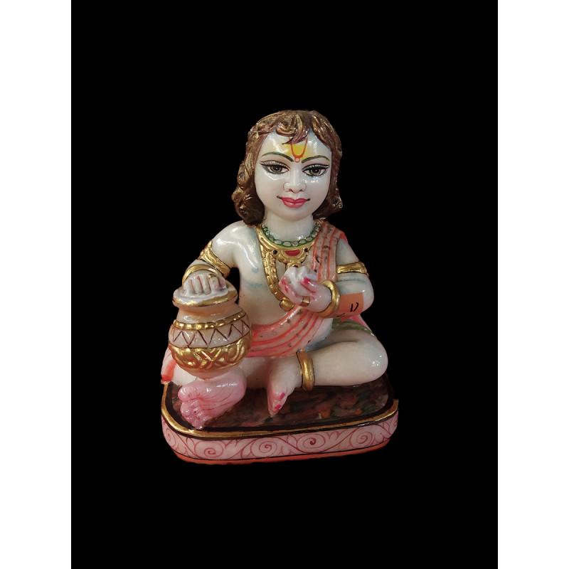 Marble Krishna Figure