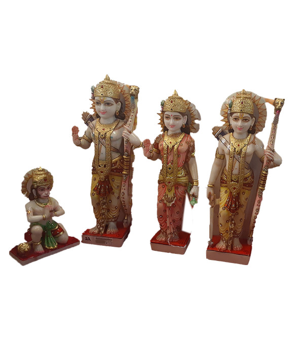 Marble Ram Darbar Set Of 4 Pcs Size 21 Inch