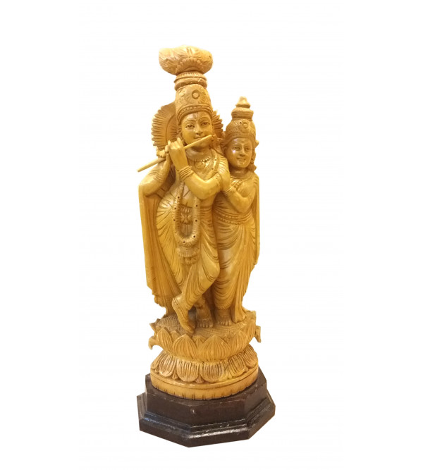 GOD FIGURE CARVED KADAM WOOD 15 inch