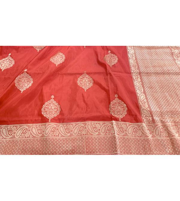 Banaras silk zari saree without blouse