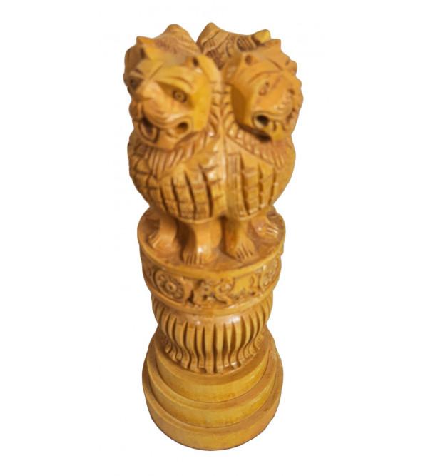Kadam Wood Ashoka Pillar Base 8 Inch