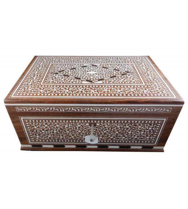 JEWELLERY BOX PLASTIC INLAY (8 X 12 INCH) SHEESHAM WOOD