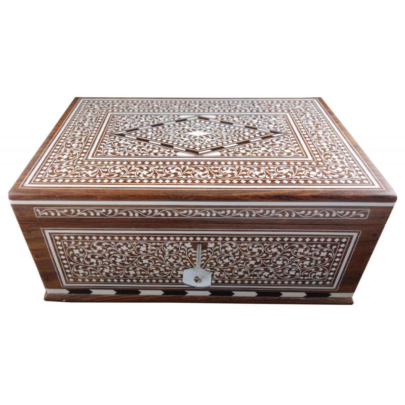 JEWELLERY BOX PLASTIC INLAY (8 X 12 INCH) SHEESHAM WOOD
