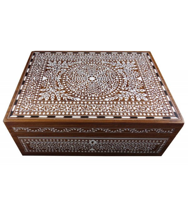 JEWELLERY BOX PLASTIC INLAY (9 X 12 INCH) SHEESHAM WOOD
