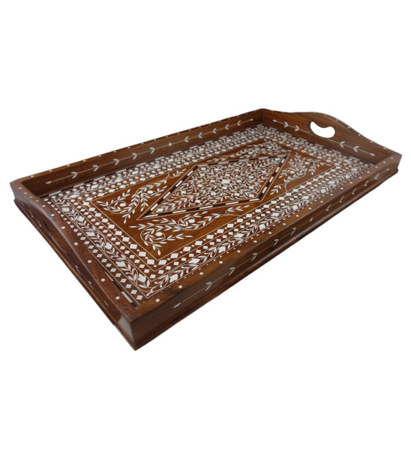 TEA TRAYS (12x20 inch) SHEESHAM WOOD