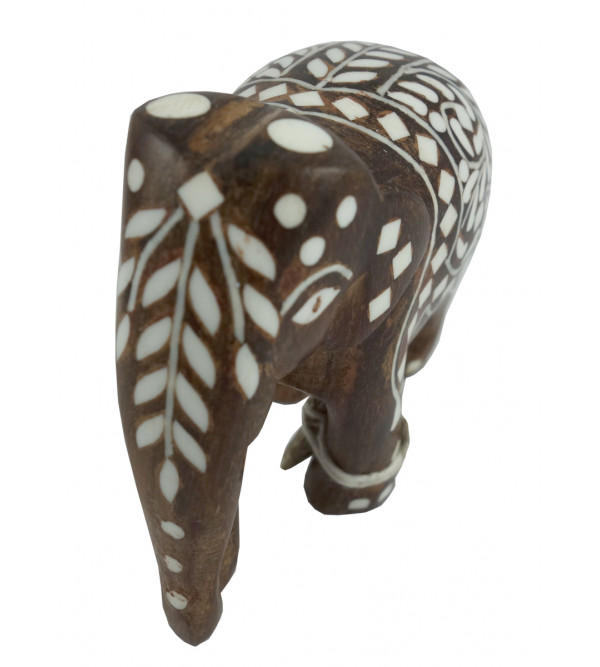 HANDICRAFT WOODEN ACRYLIC INLAY WORK ELEPHANTS CARPET SHEESHAM WOOD 3 INCH