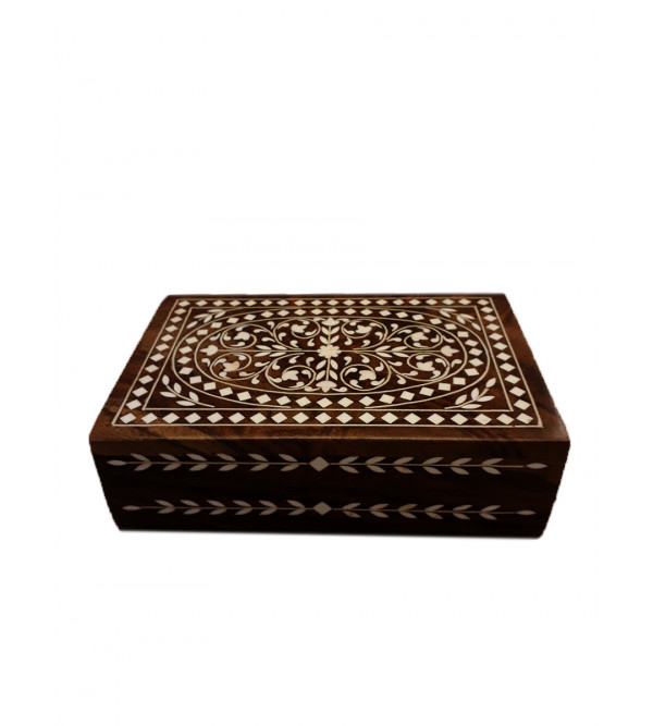 WOODEN 6 X 4 X 2 INCH JEW BOX 229SFEX