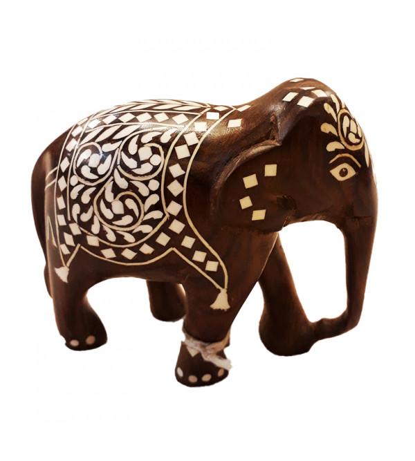 4 inches Elephant Carpet Design inlay work