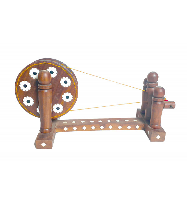 CHARKHA PLASTIC INLAID CH2F SHEESHAM WOOD