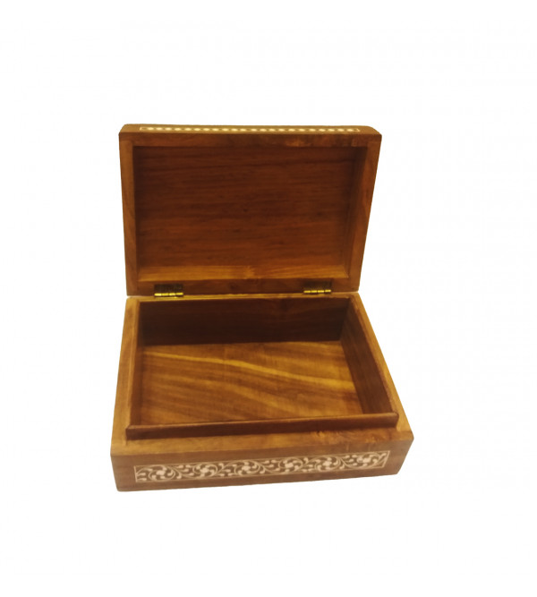 Handcrafted Wooden Inlay Work Box Size 7x5 Inch