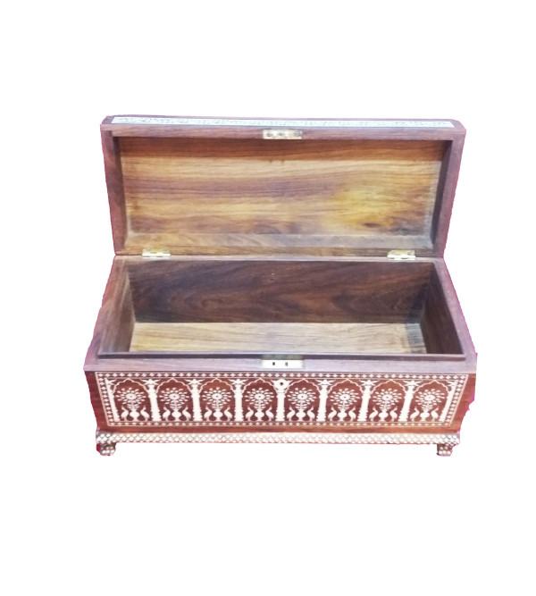 Handcrafted Wooden Inlay Work Box Size  7,5x18 Inch