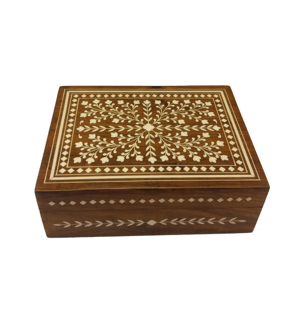 JEWELLERY BOX PLASTIC INLAY 8x6 inch