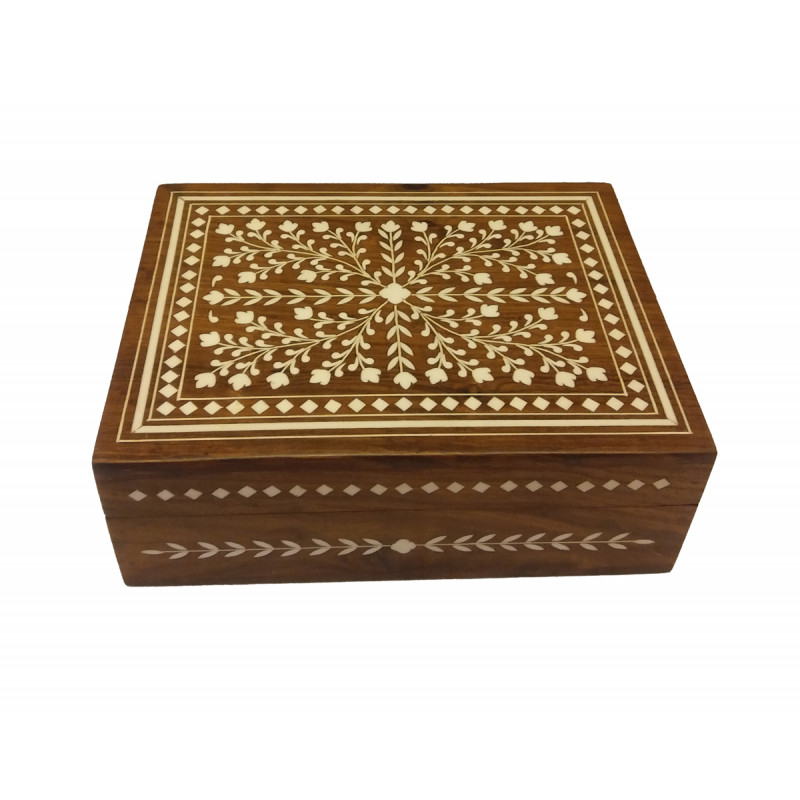 JEWELLERY BOX PLASTIC INLAY 8x6 inch