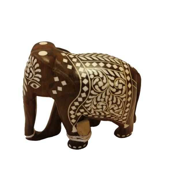 INLAID ELEPHANT TD FINE WORK 4 INCH