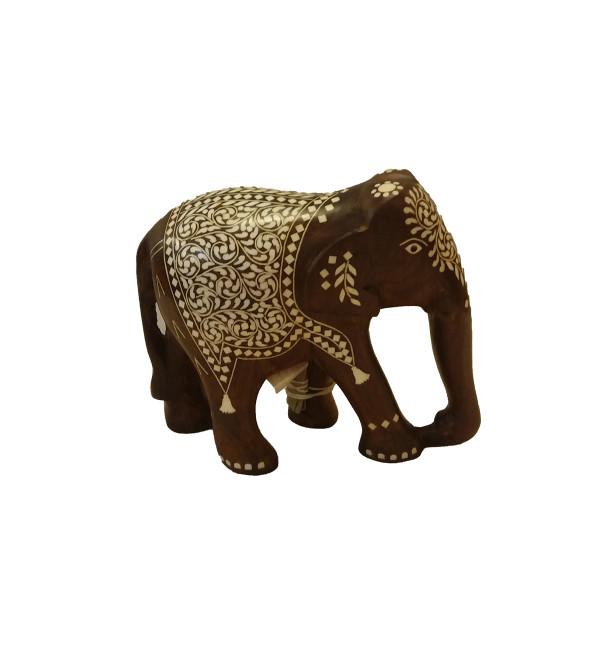 INLAID ELEPHANT TD FINE WORK 6 INCH