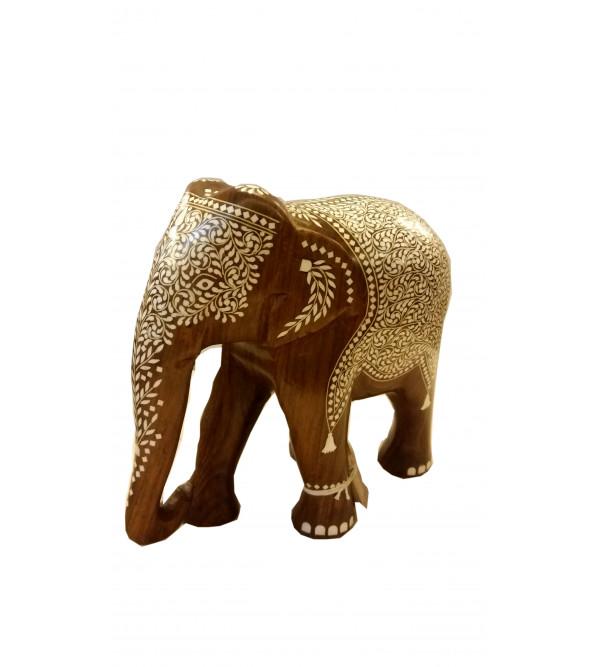 INLAID ELEPHANT TD FINE WORK 10 INCH