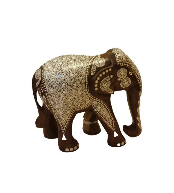 INLAID ELEPHANT TD RICH WORK 8 INCH