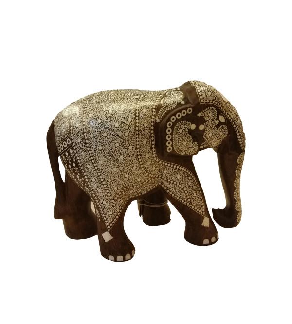 INLAID ELEPHANT TD RICH WORK 10 INCH
