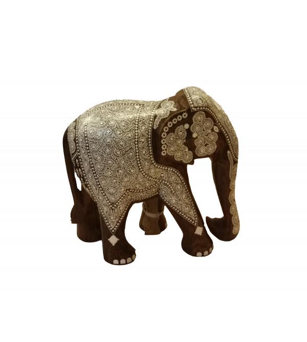 INLAID ELEPHANT TD RICH WORK 12 INCH