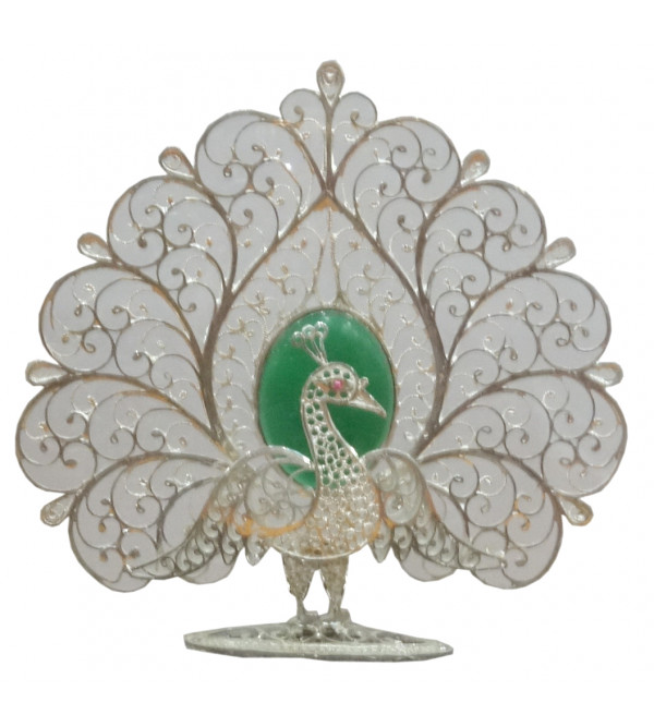 HANDICRAFT 92.5 PURITY SILVER PEACOCK FILIGREE WORK