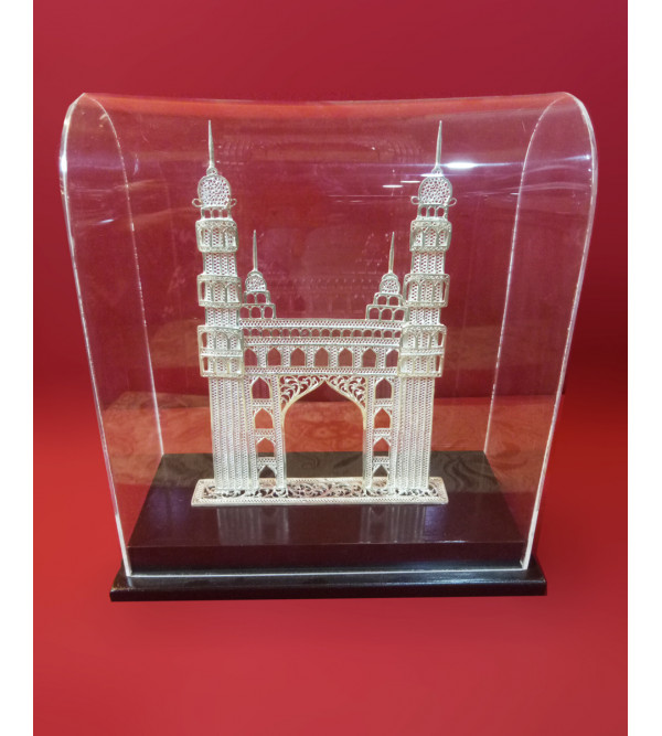 Hand Crafted Filigree Charminar  Purity 92,5% Size Inch