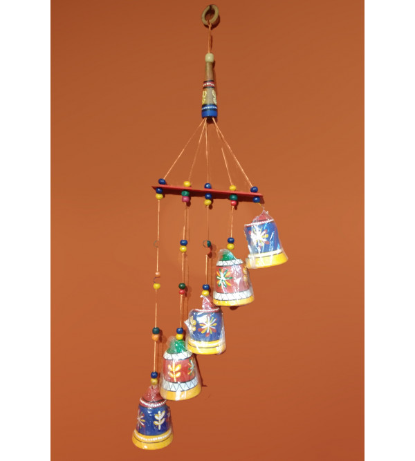 TERRACOTTA WIND CHIMES 5 BELLS