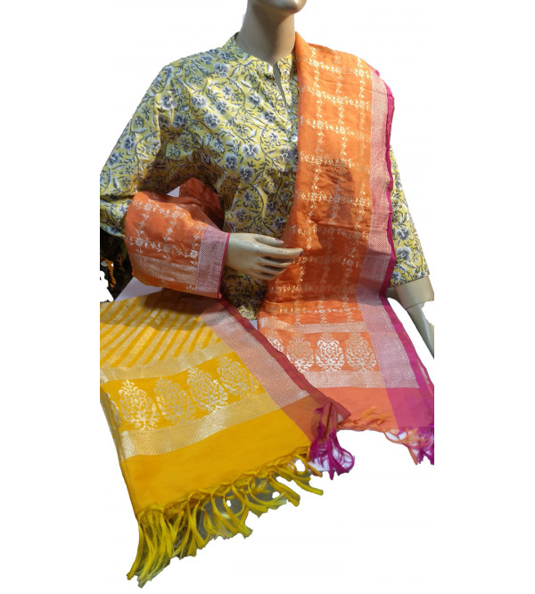 Silk Handwoven Dupatta from Banaras