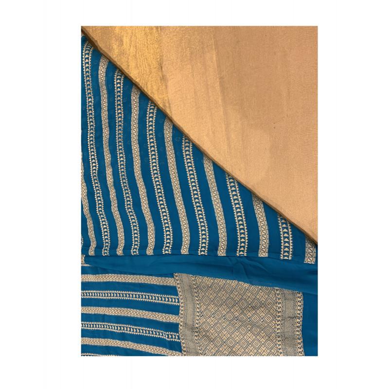 Silk Handloom Banaras Zari Saree with Blouse