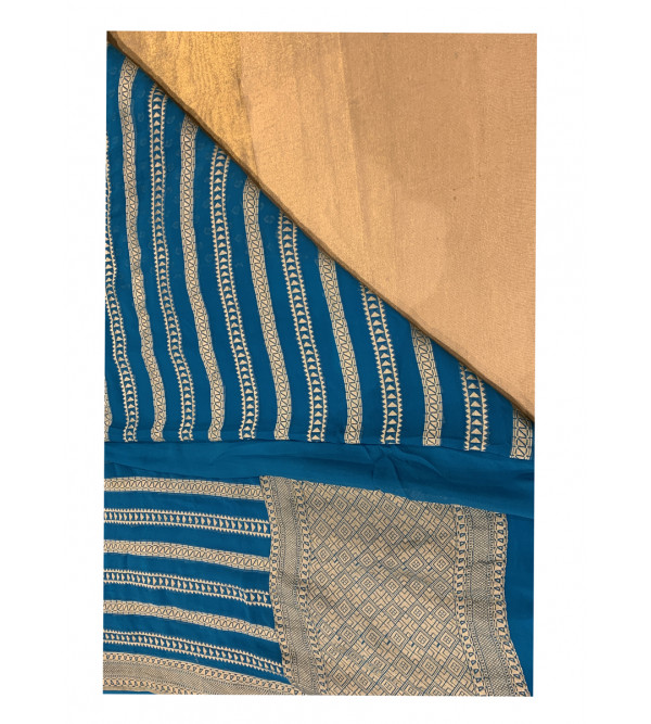 Chiffon geogette banaras  HANDLOOM SAREE with Blouse