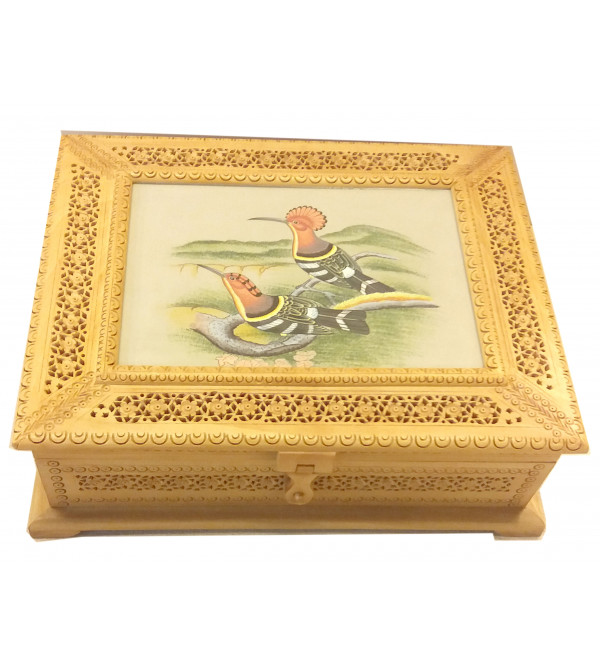 BOX JALI WORK KADAM WOOD WITH PAINTING 10X8 INCH