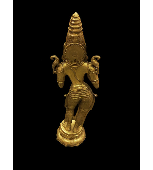 Deep Laxmi Handcrafted In Brass Size 44 Inches